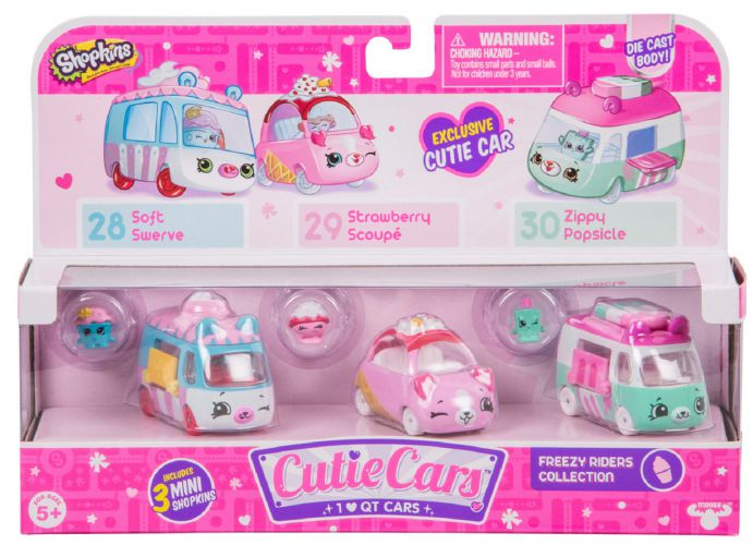 Cutie Cars x3 Shopkins